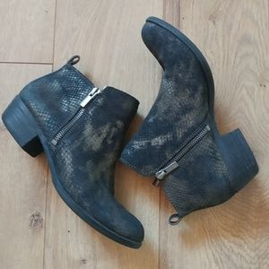 Lucky Brand Basel Snake Skin Leather Booties